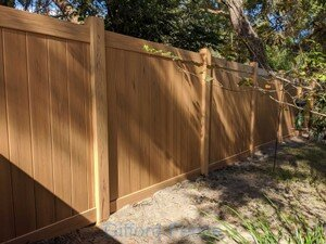 Golden Pine Wood Grain PVC Privacy
